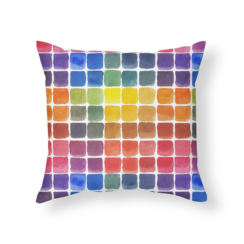 Mix it Up! - Watercolor Chart Pattern Home Throw Pillow by milenabdesign's Artist Shop