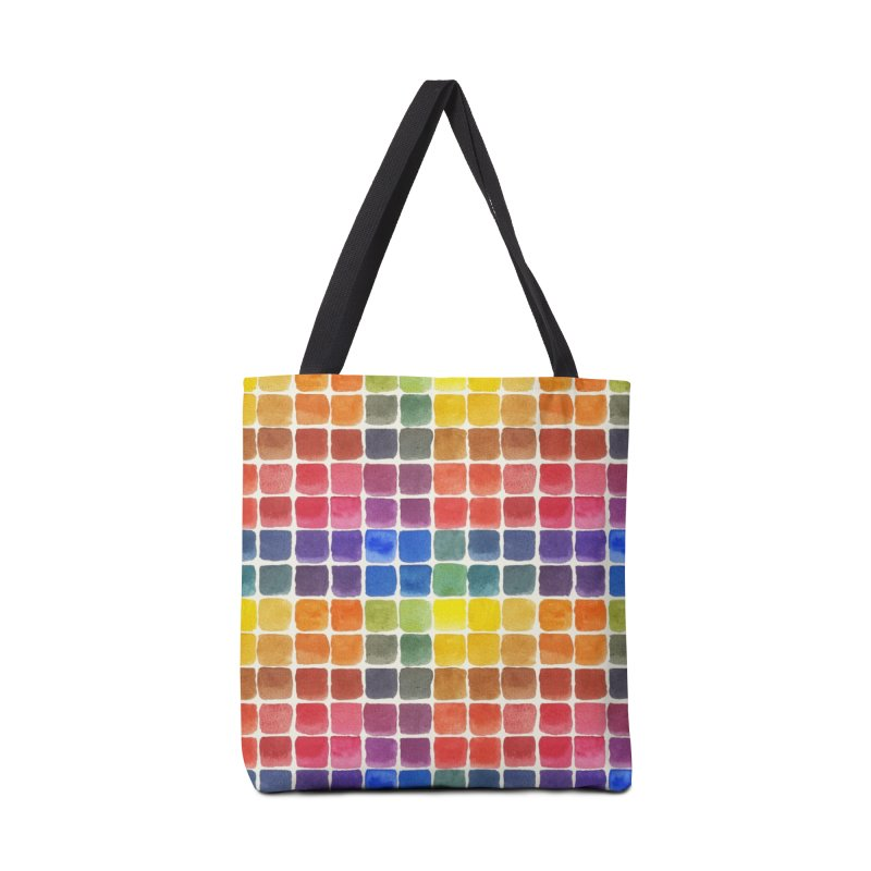 Mix it Up! - Watercolor Chart Pattern Accessories Tote Bag Bag by milenabdesign's Artist Shop