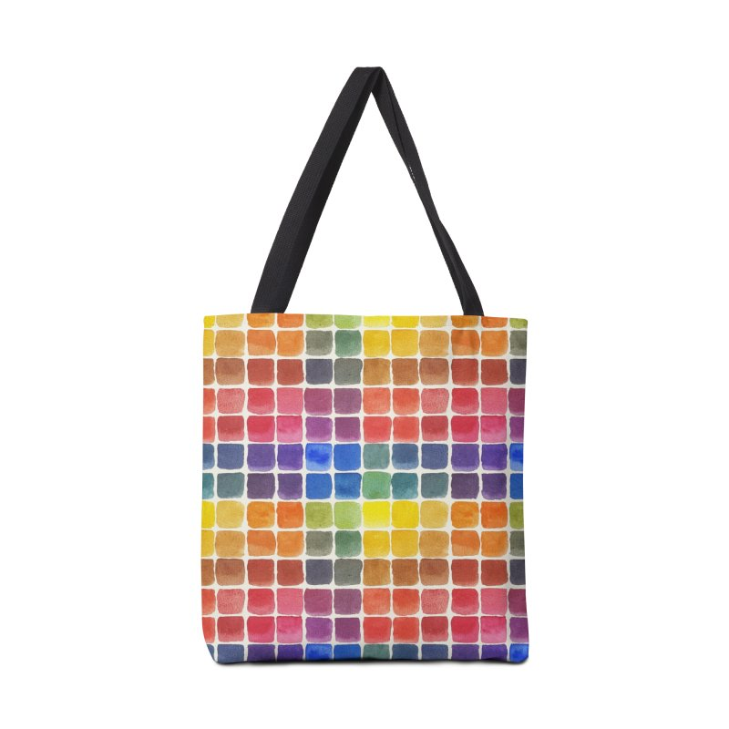Mix it Up! - Watercolor Chart Pattern Accessories Bag by milenabdesign's Artist Shop