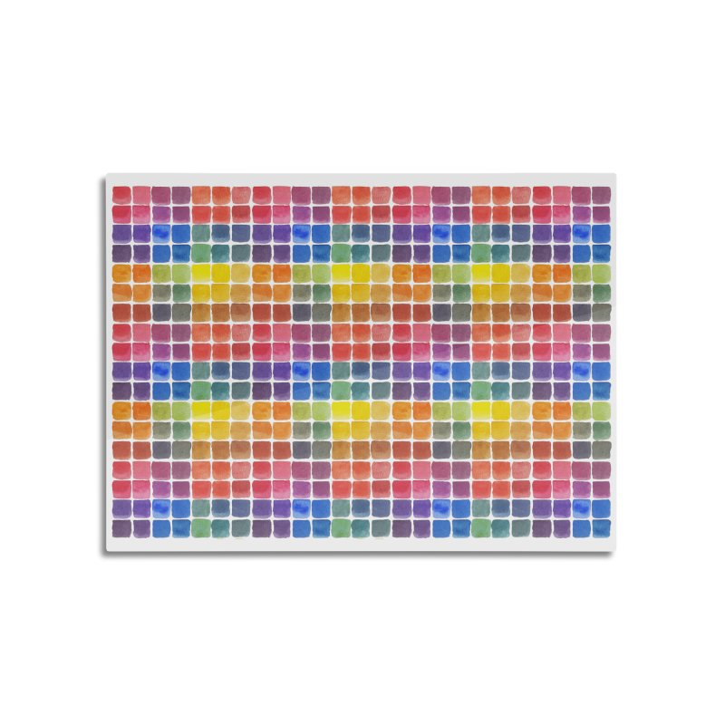 Mix it Up! - Watercolor Chart Pattern Home Mounted Aluminum Print by milenabdesign's Artist Shop