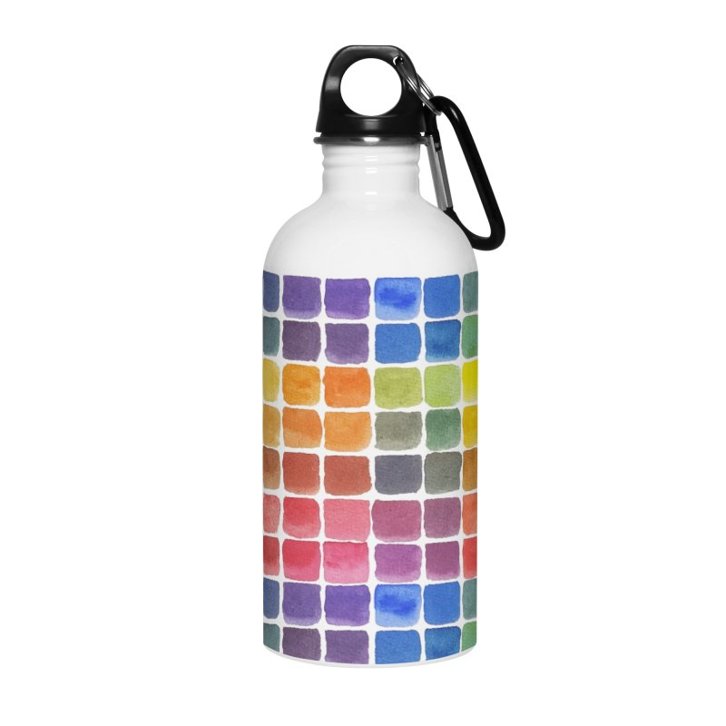 Mix it Up! - Watercolor Chart Pattern Accessories Water Bottle by milenabdesign's Artist Shop