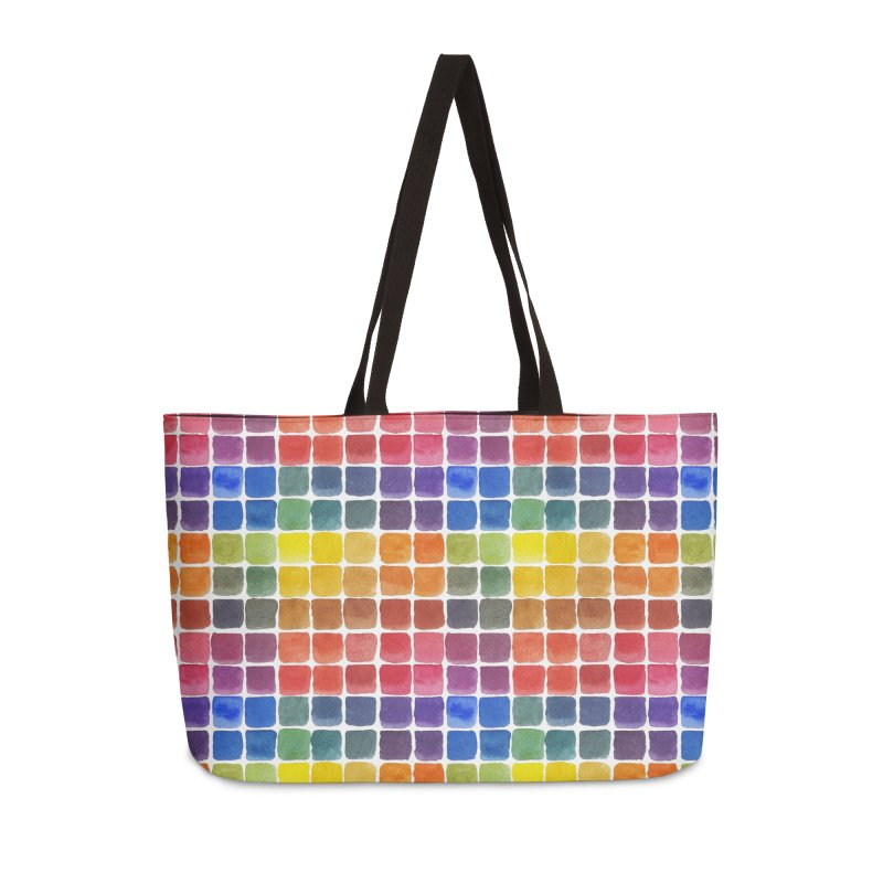 Mix it Up! - Watercolor Chart Pattern Accessories Weekender Bag Bag by milenabdesign's Artist Shop