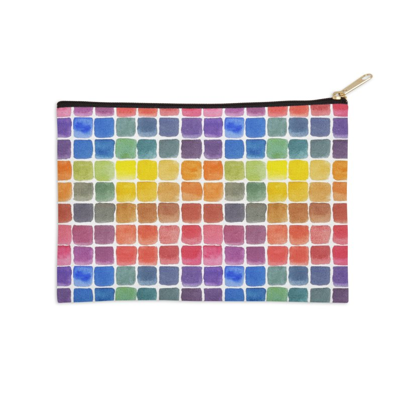 Mix it Up! - Watercolor Chart Pattern Accessories Zip Pouch by milenabdesign's Artist Shop