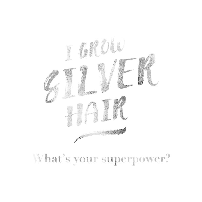 Silver Hair Superpower Men's V-Neck by milenabdesign's Artist Shop