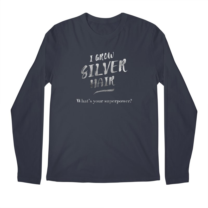 Silver Hair Superpower Men's Regular Longsleeve T-Shirt by milenabdesign's Artist Shop