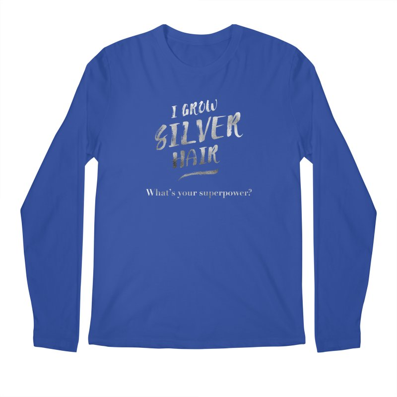 Silver Hair Superpower Men's Longsleeve T-Shirt by milenabdesign's Artist Shop