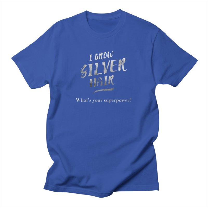 Silver Hair Superpower Men's T-Shirt by milenabdesign's Artist Shop