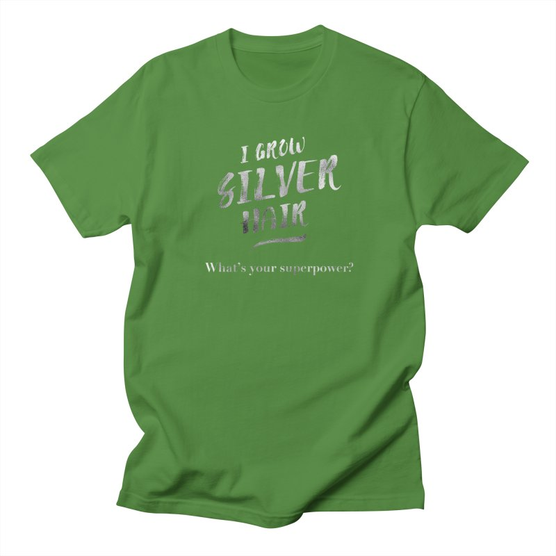 Silver Hair Superpower Women's Regular Unisex T-Shirt by milenabdesign's Artist Shop