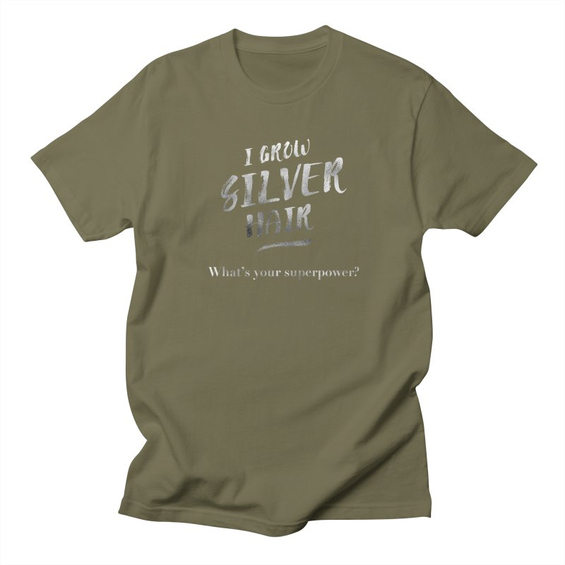 Silver Hair Superpower Men's Regular T-Shirt by milenabdesign's Artist Shop