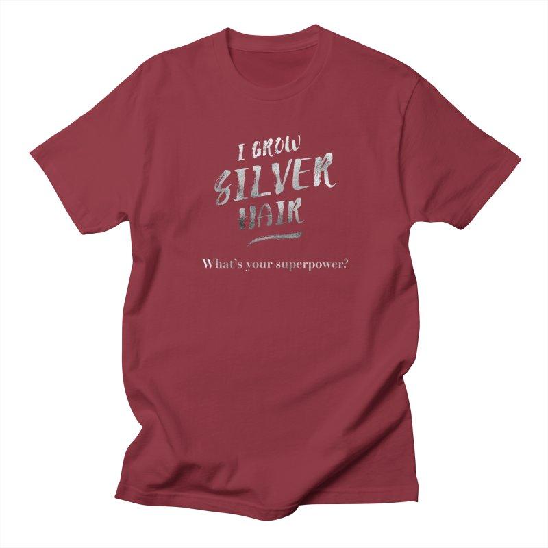 Silver Hair Superpower Women's Regular Unisex T-Shirt by milenabdesign's Artist Shop