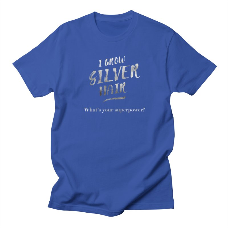 Silver Hair Superpower Men's T-Shirt by milenabdesign's Artist Shop