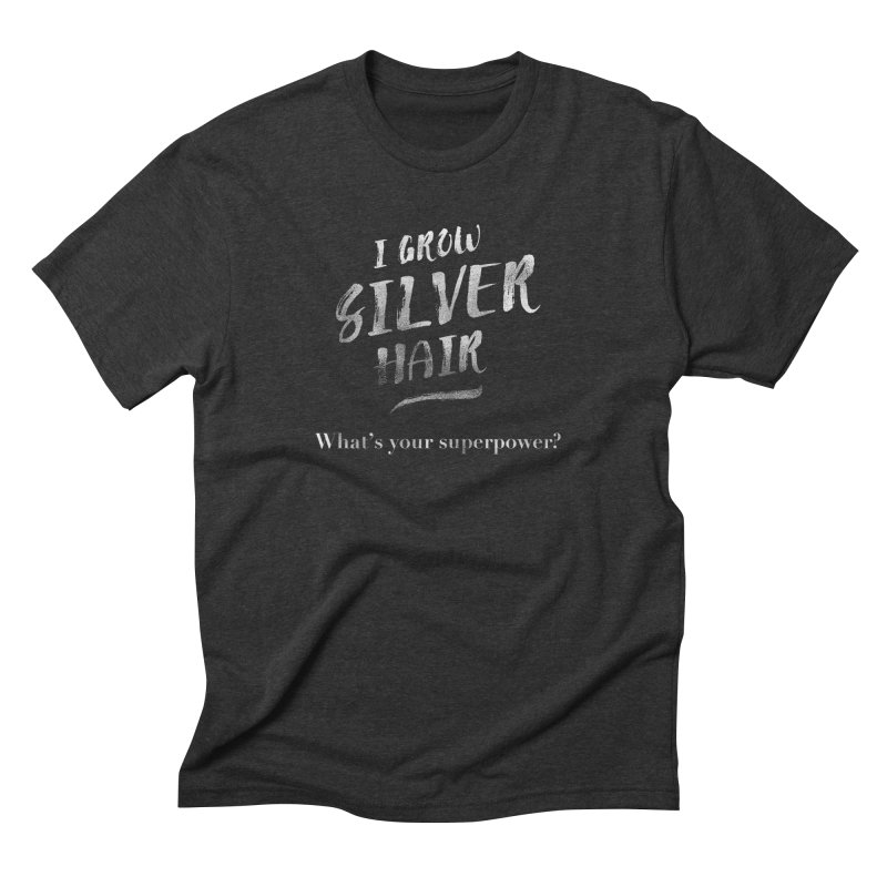 Silver Hair Superpower Men's Triblend T-Shirt by milenabdesign's Artist Shop