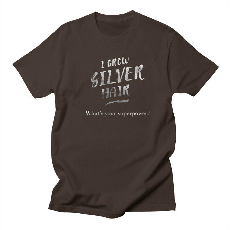 Silver Hair Superpower Men's Regular T-Shirt by milenabdesign's Artist Shop