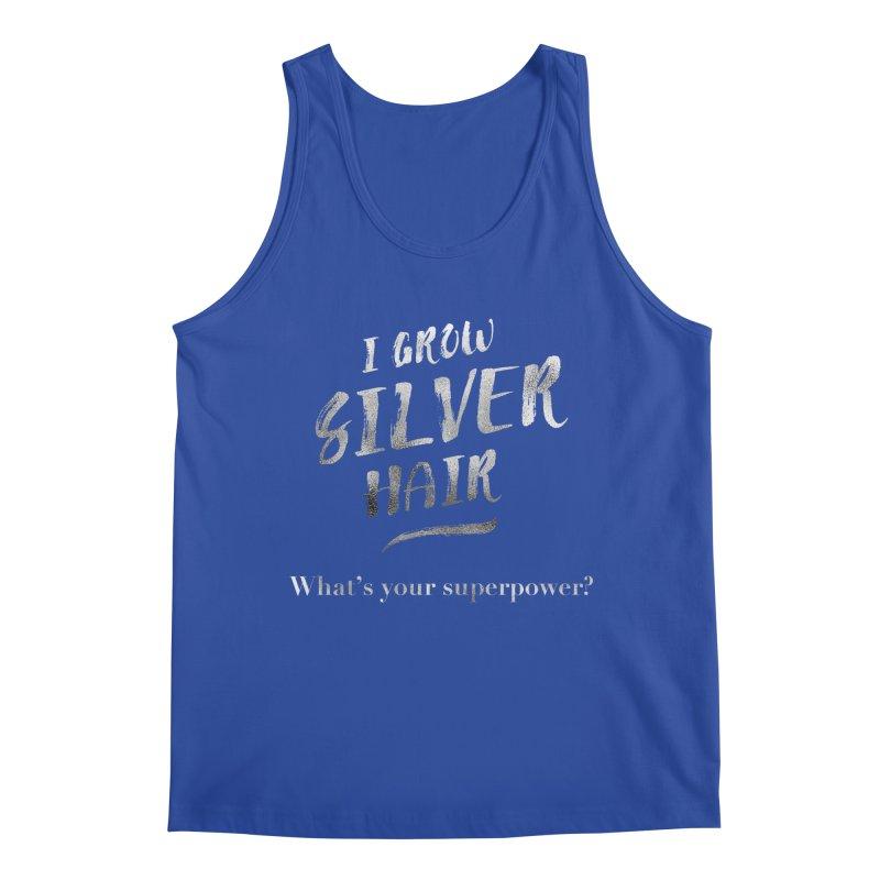 Silver Hair Superpower Men's Tank by milenabdesign's Artist Shop