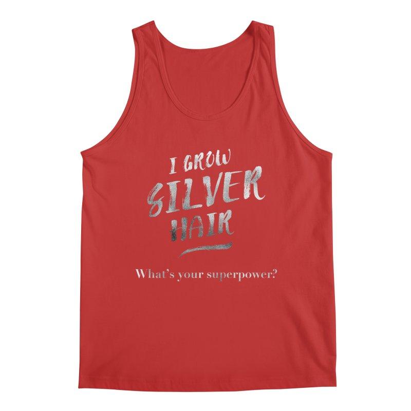 Silver Hair Superpower Men's Regular Tank by milenabdesign's Artist Shop