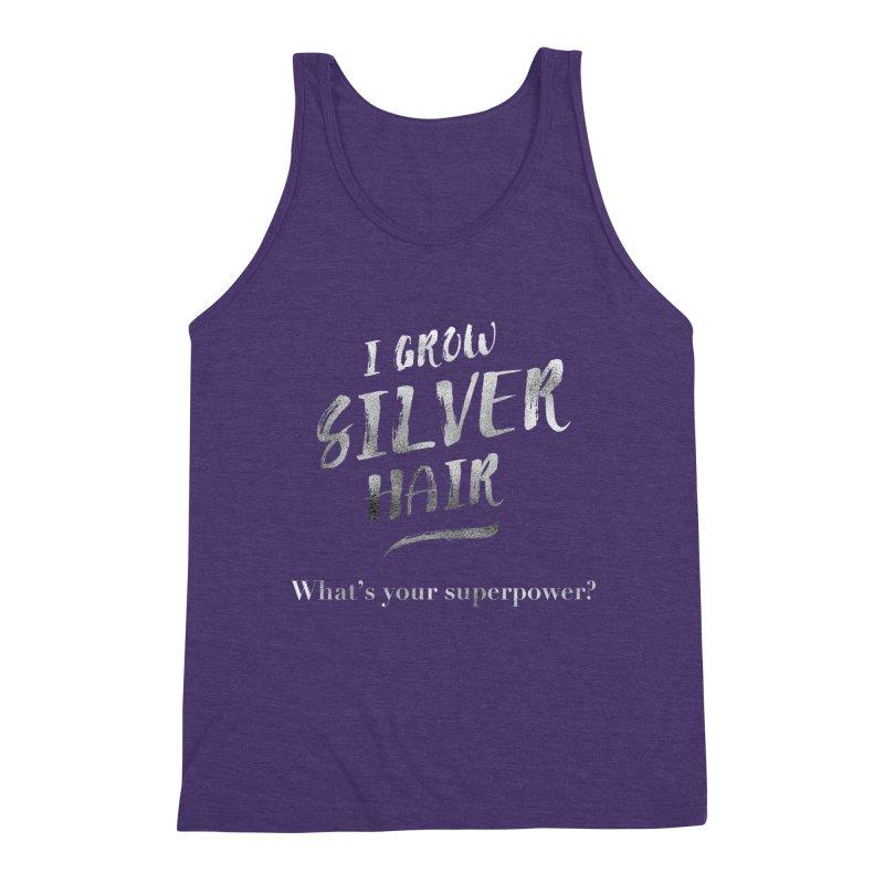 Silver Hair Superpower Men's Triblend Tank by milenabdesign's Artist Shop