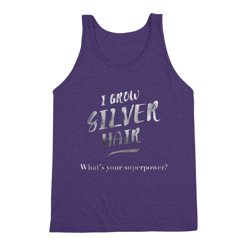 Silver Hair Superpower Men's Triblend Tank by milenabdesign's Artist Shop