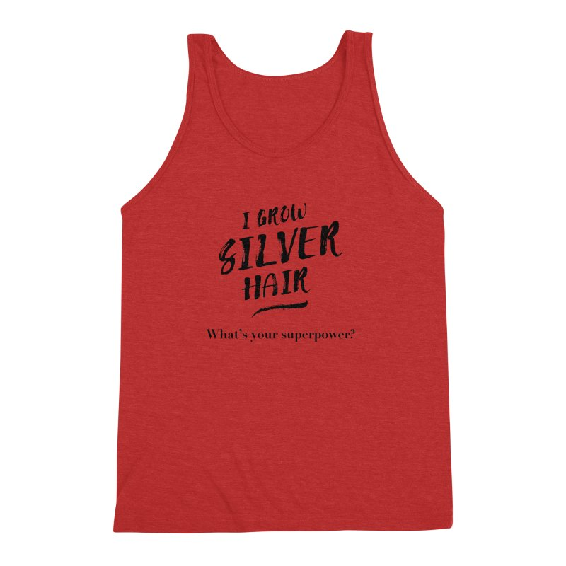 Silver Hair Superpower (black) Men's Tank by milenabdesign's Artist Shop