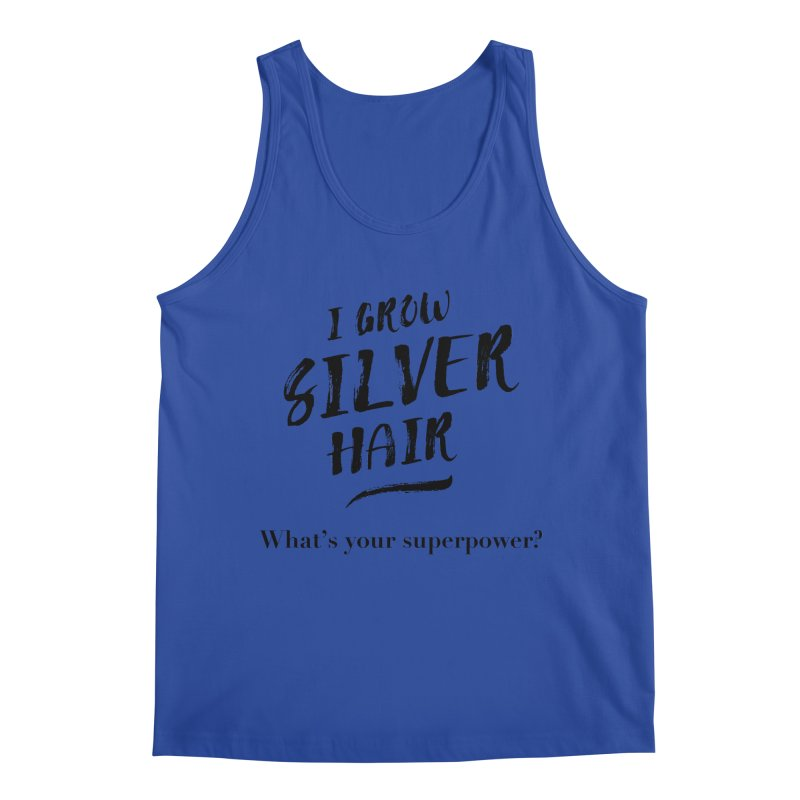 Silver Hair Superpower (black) Men's Regular Tank by milenabdesign's Artist Shop