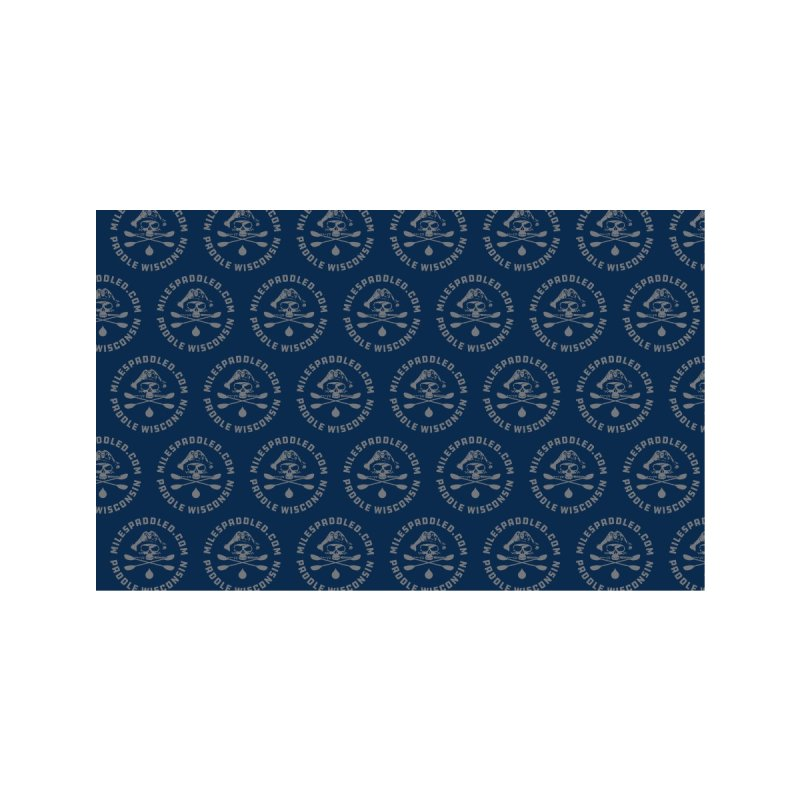 Blue Pattern Face Mask Accessories Face Mask by Miles Paddled