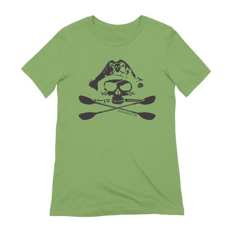 Miles Paddled Dark Logo Women's T-Shirt by Miles Paddled