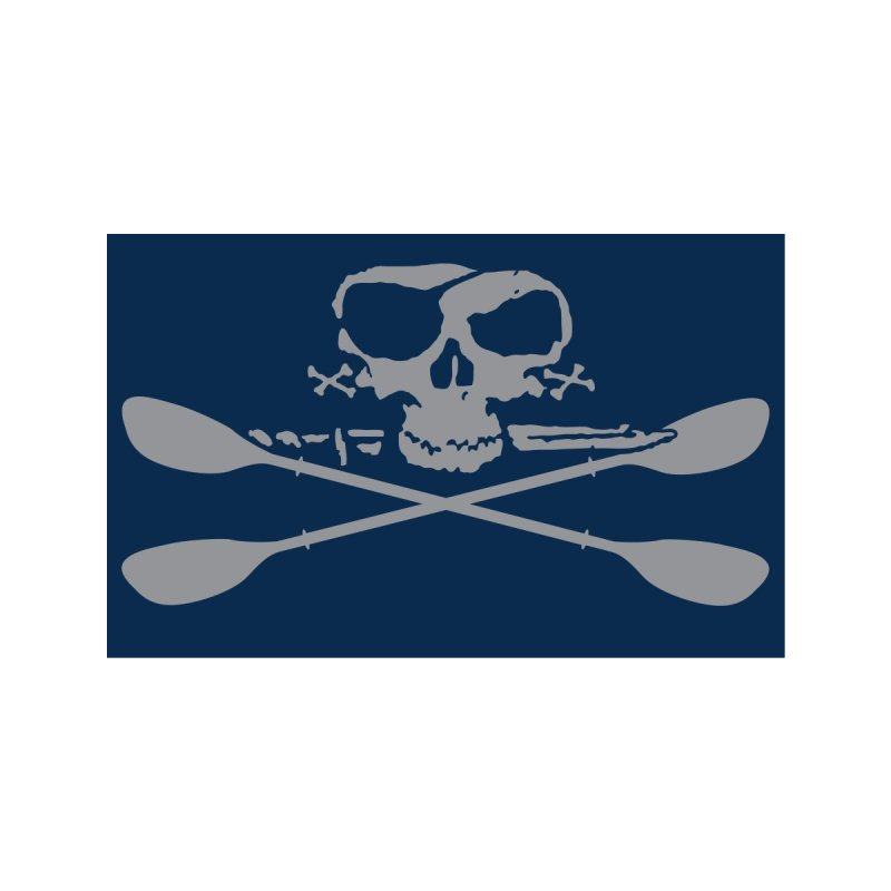 Blue Skull Face Mask Accessories Face Mask by Miles Paddled