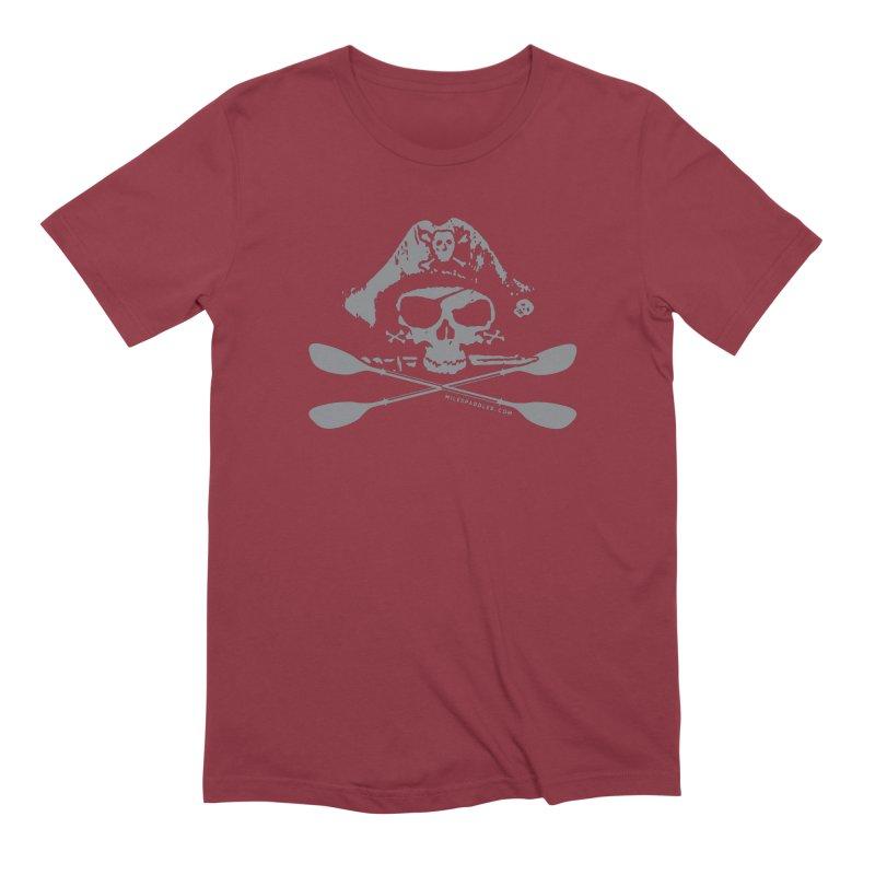 Miles Paddled Light Logo Men's T-Shirt by Miles Paddled