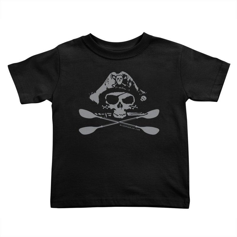 Miles Paddled Light Logo Kids Toddler T-Shirt by Miles Paddled