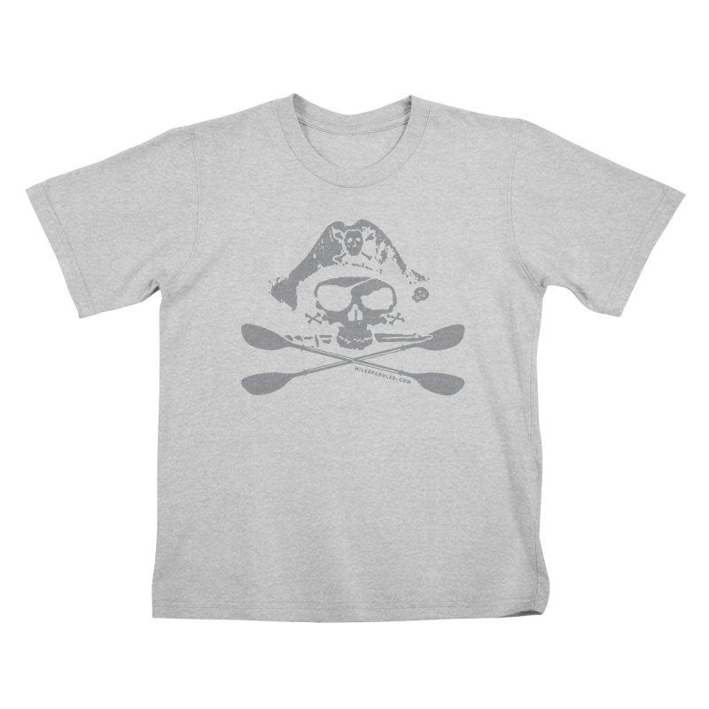 Miles Paddled Light Logo Kids T-Shirt by Miles Paddled