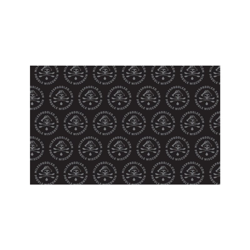 Black Pattern Face Mask Accessories Face Mask by Miles Paddled