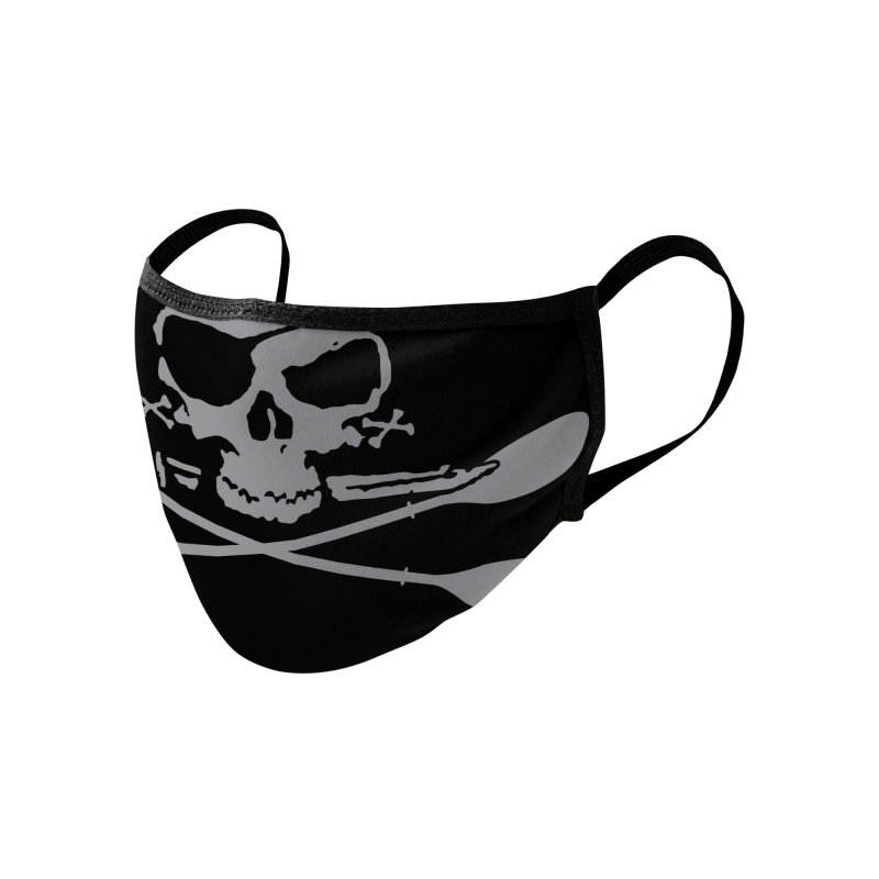Black Skull Face Mask Accessories Face Mask by Miles Paddled