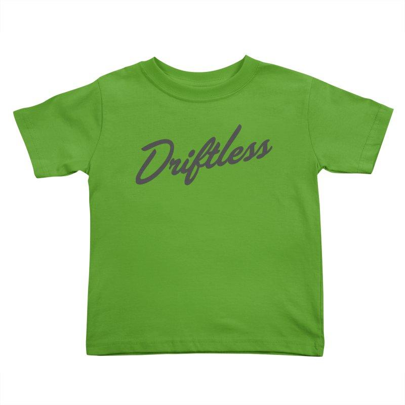 Driftless Typography Dark Kids Toddler T-Shirt by Miles Paddled