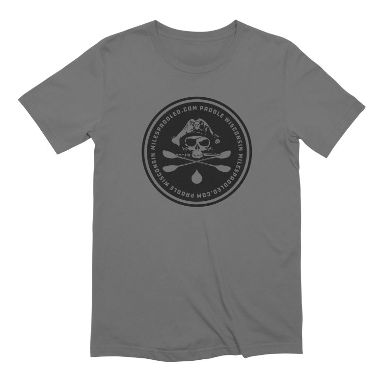 Milespaddled Lights Off Badge Too Men's T-Shirt by Miles Paddled