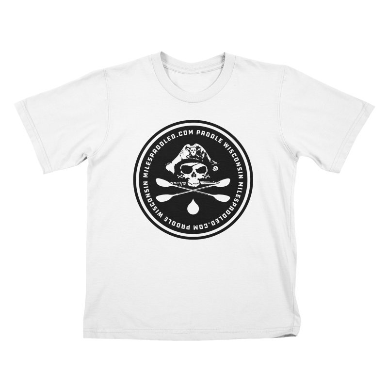 Milespaddled Lights Off Badge Too Kids T-Shirt by Miles Paddled