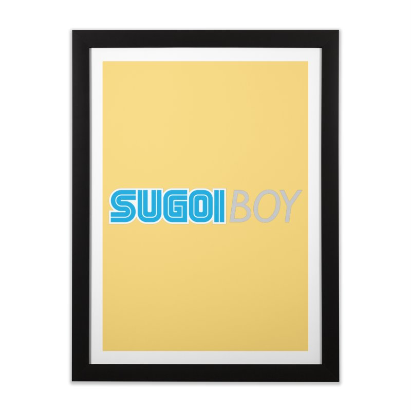 sugoi boy Home Framed Fine Art Print by milkbarista's Artist Shop