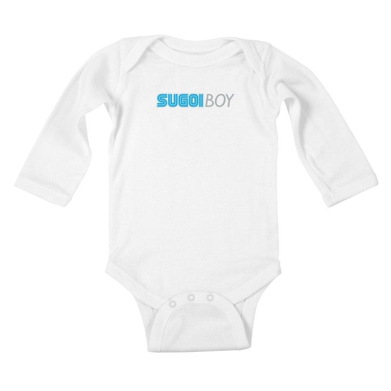 sugoi boy Kids Baby Longsleeve Bodysuit by milkbarista's Artist Shop