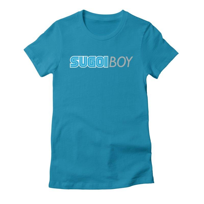 sugoi boy Women's Fitted T-Shirt by milkbarista's Artist Shop
