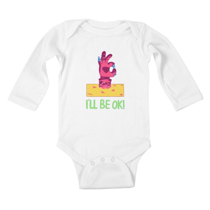 I'll be OK! Kids Baby Longsleeve Bodysuit by milkbarista's Artist Shop