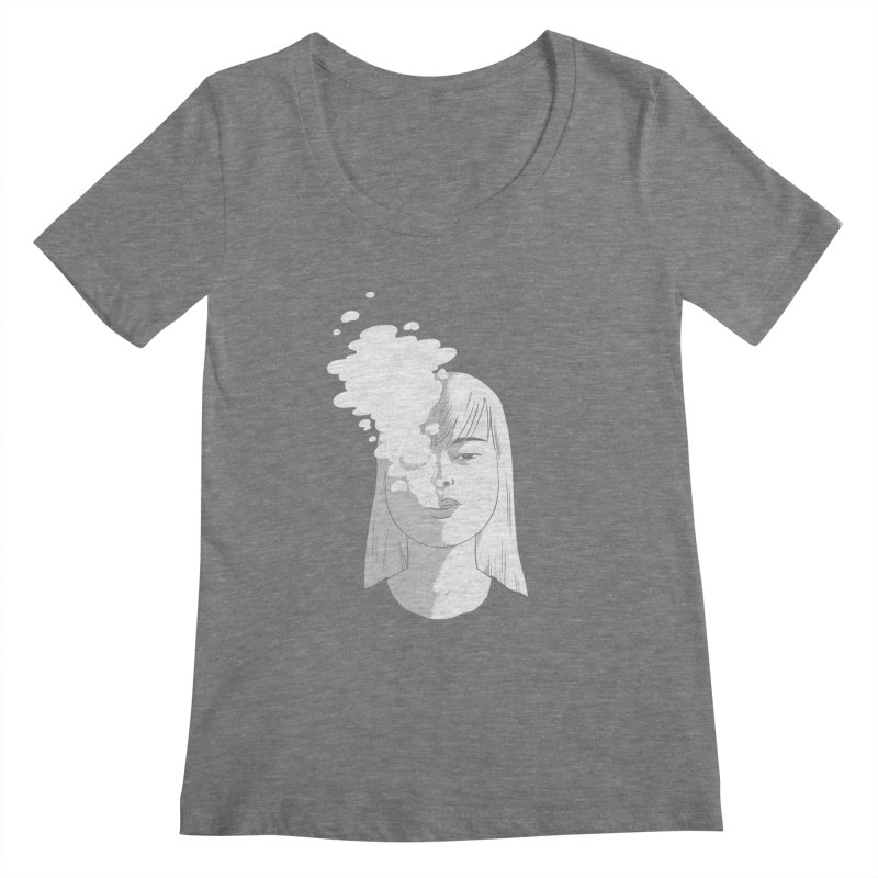 smokin' Women's Scoopneck by milkbarista's Artist Shop