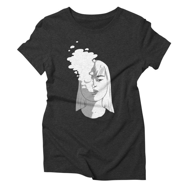 smokin' Women's Triblend T-shirt by milkbarista's Artist Shop
