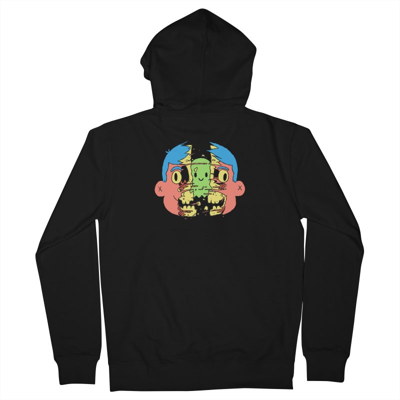 peekaboo Men's Zip-Up Hoody by milkbarista's Artist Shop