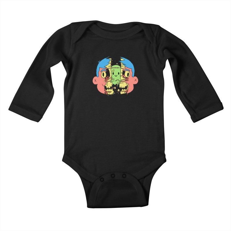 peekaboo Kids Baby Longsleeve Bodysuit by milkbarista's Artist Shop