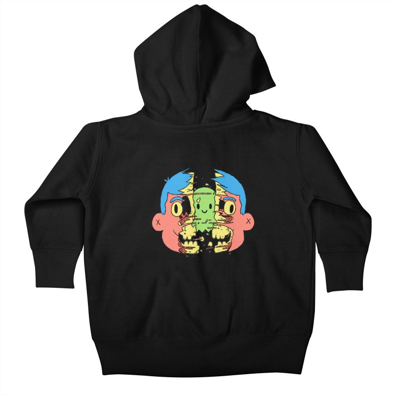 peekaboo Kids Baby Zip-Up Hoody by milkbarista's Artist Shop