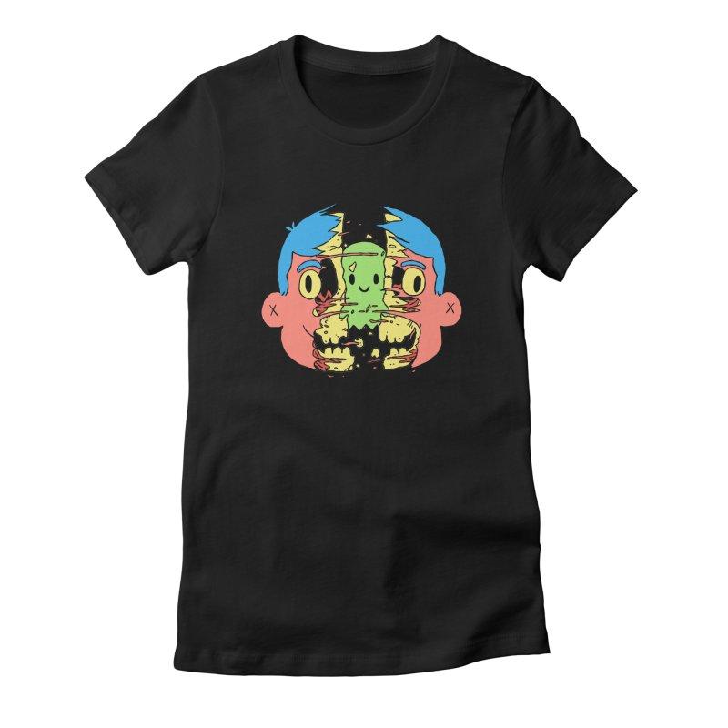 peekaboo Women's Fitted T-Shirt by milkbarista's Artist Shop