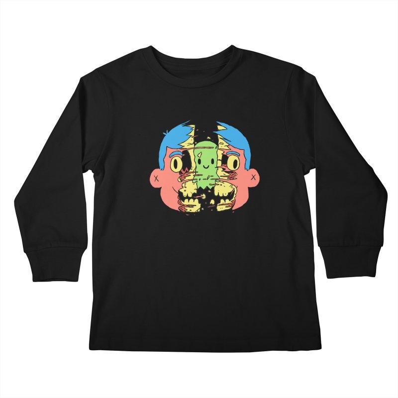 peekaboo Kids Longsleeve T-Shirt by milkbarista's Artist Shop