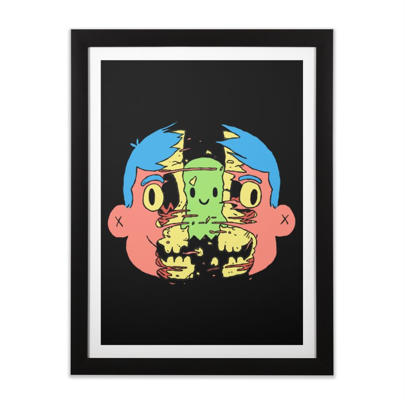 peekaboo Home Framed Fine Art Print by milkbarista's Artist Shop