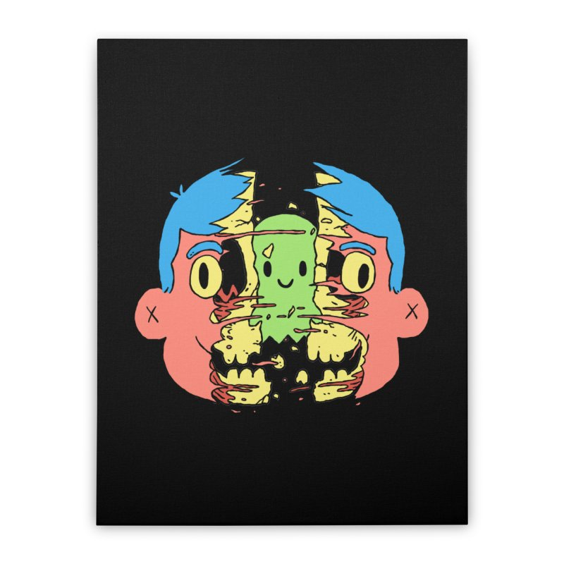 peekaboo Home Stretched Canvas by milkbarista's Artist Shop