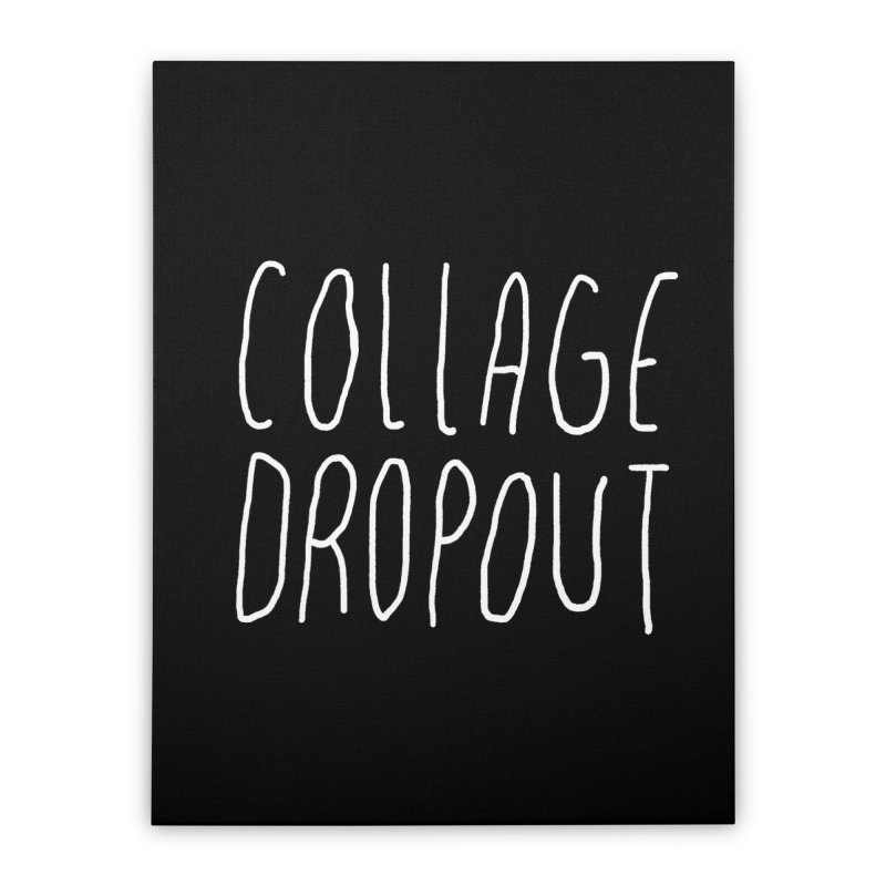 no ragrets Home Stretched Canvas by milkbarista's Artist Shop