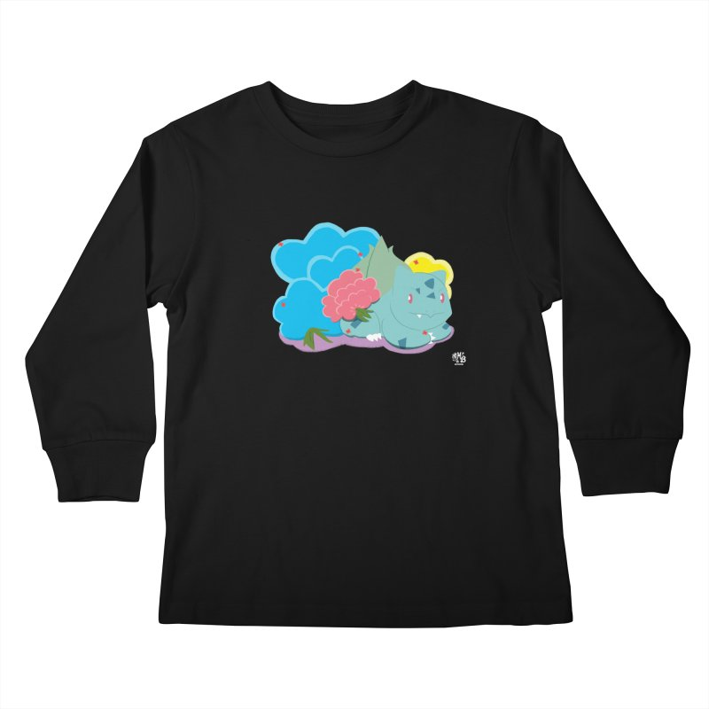 Bulbasaur Kids Longsleeve T-Shirt by Milk Bread