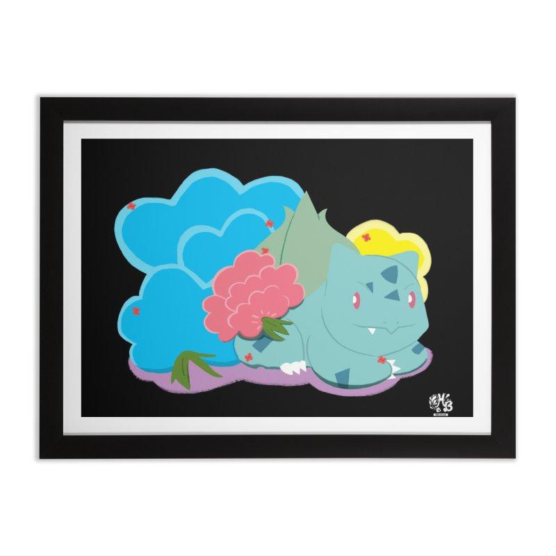 Bulbasaur Home Framed Fine Art Print by Milk Bread